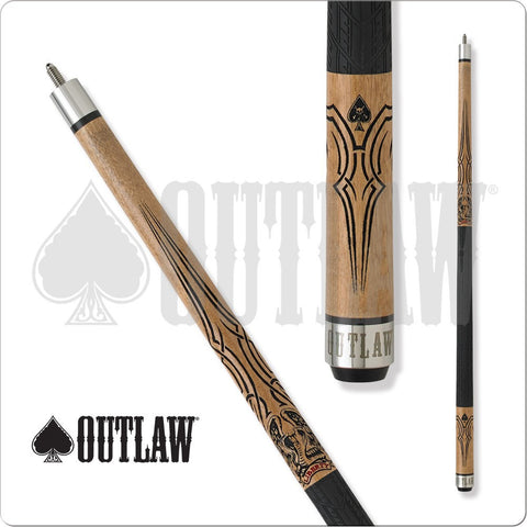 Outlaw Pool Cue - OL41 - Outlaw Biker - Liberty - Rubber Wrap - absolute cues