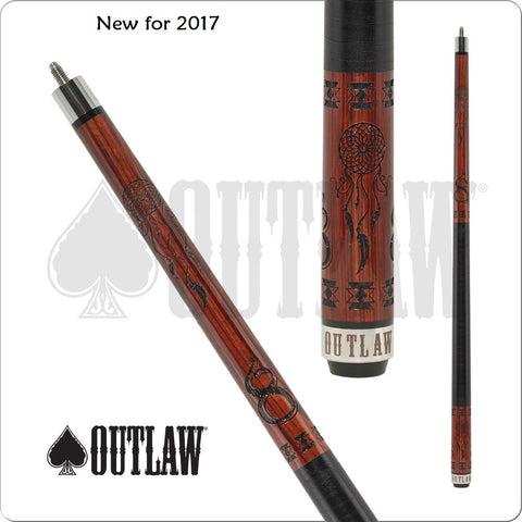 Outlaw Pool Cue - OL45 - Cherry Stained - Dream Catcher - absolute cues