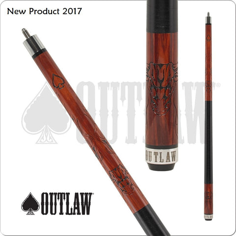 Outlaw Pool Cue - OL47 - Outlaw Cherry - Bull Head - absolute cues