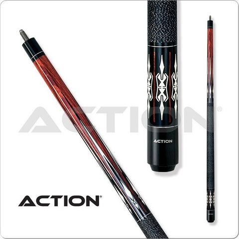 Action Pool Cues - Exotic Series - ACT109 - Black Wrap - absolute cues