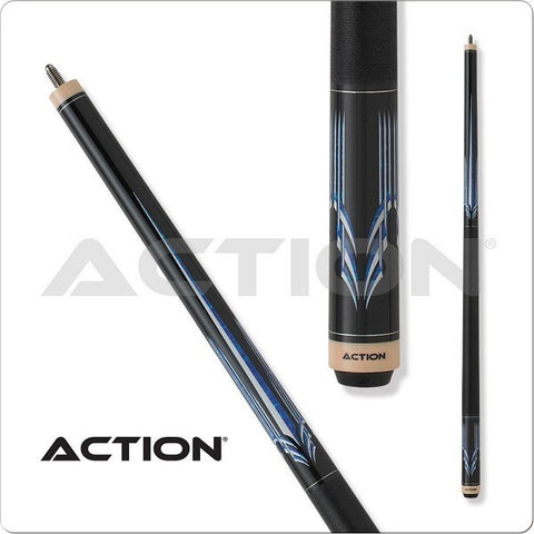 Action Pool Cues - Exotic Series - ACT142 - Speckled Blue Design - absolute cues