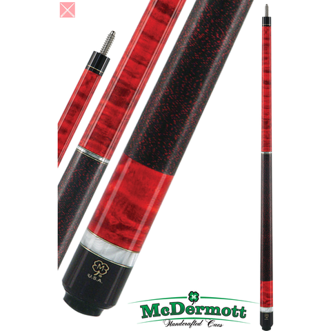 McDermott Pool Cue - G-Series, G208, G-Core Shaft, Red with Pearl Wrap - absolute cues