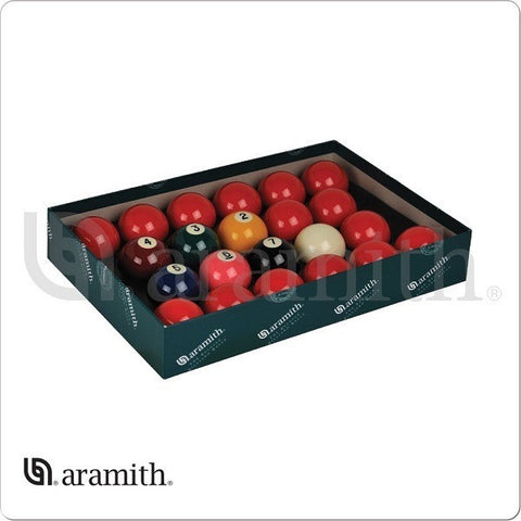 "Aramith Billiards Balls - BBANS2.125 - Premier 2 1/8"" Number Snooker Set - absolute cues"