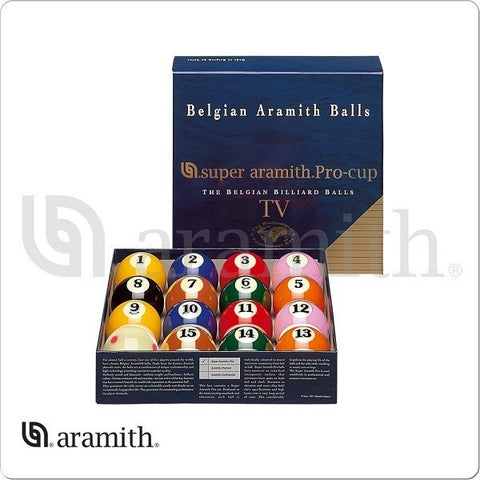 Super Aramith Billiards Balls - BBSAPTV - Pro TV Ball Set - absolute cues