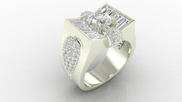 Diamond Structures Ring