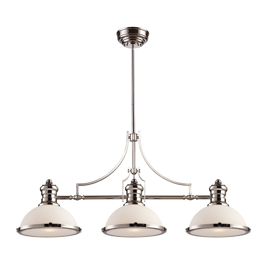 Chadwick 3-Light Billiard in Polished Nickel