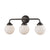 Beckett 3 Light Bath In Oil Rubbed Bronze And Opal White Glass