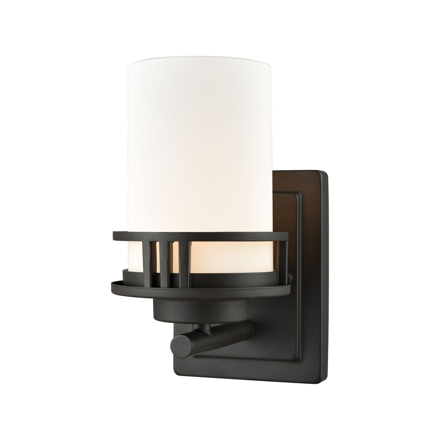 Ravendale 1 Light Bath In Oil Rubbed Bronze With Opal White Glass