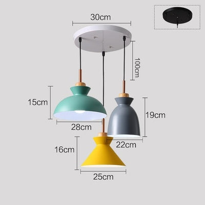 Set of 3 Colorful Macaroon LED Dining Table Lamp Lights
