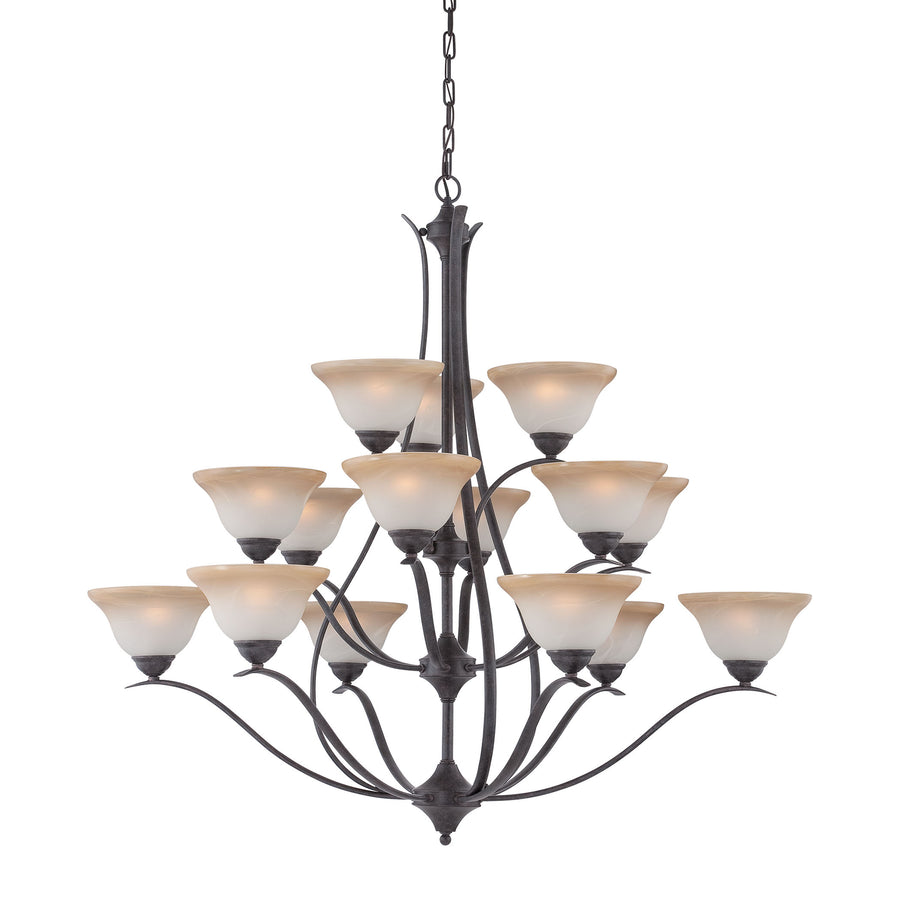 PRESTIGE chandelier Sable Bronze 15x40W
