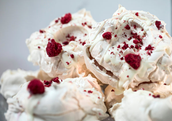Raspberry Rosewater White Chocolate Meringue (GF)