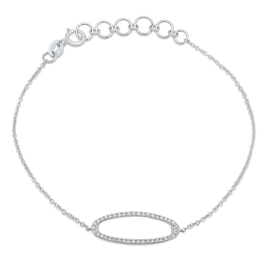 Diamond Oval Chain Bracelet