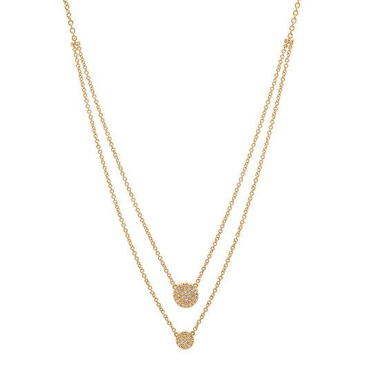 Double Disc Necklace | Harrisons Collection