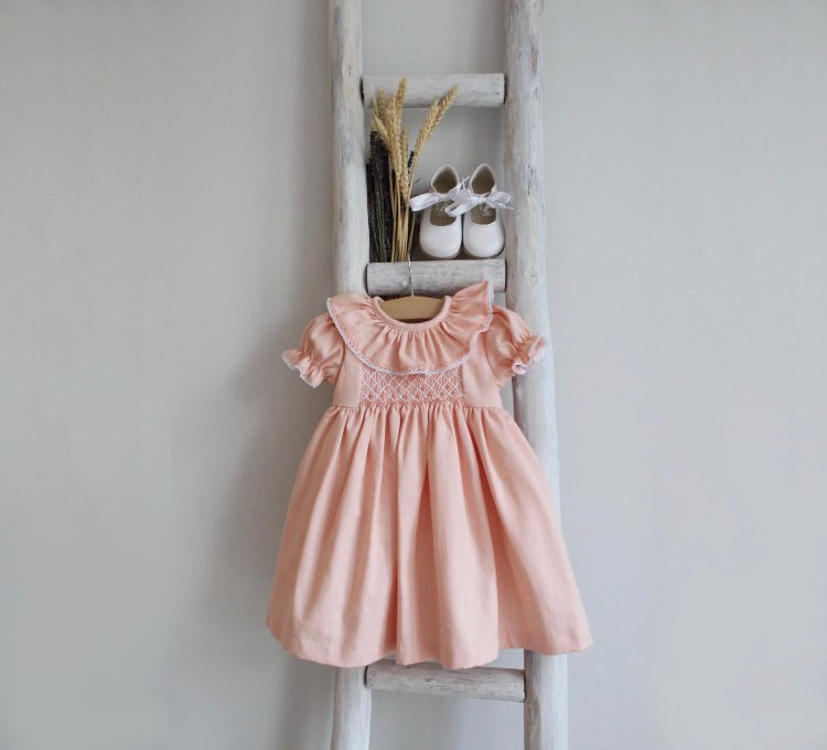 Elle dress in peach