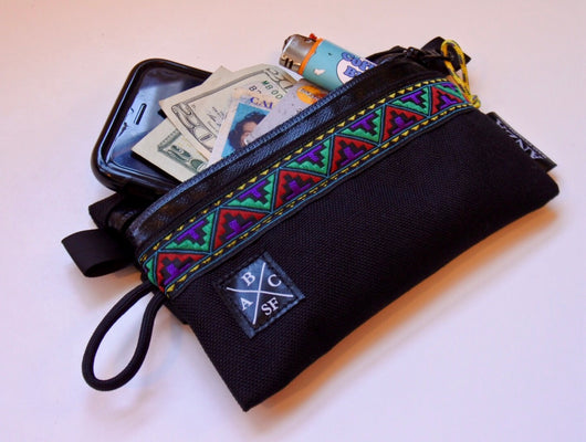 ABCSF Ride Wallet v2.0- Black with Aztec Trim