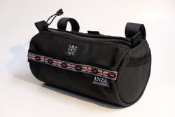 ABCSF Handlebar Bag-  Black with Grey Southwest trim