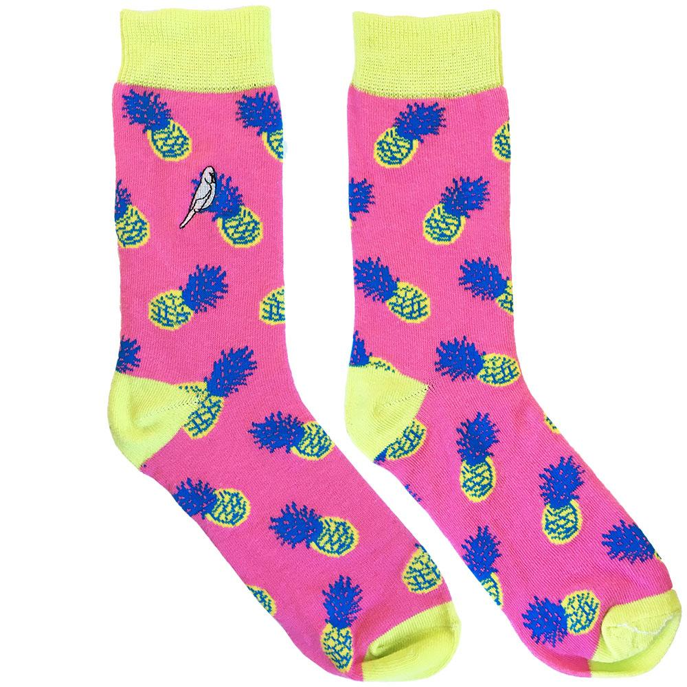 Pink Fineapple Socks