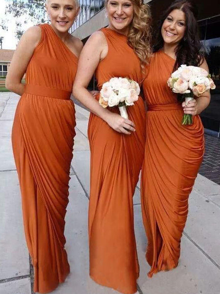 One-shoulder Bridesmaid Dress,Floor-length Bridesmaid Dress,Pretty Bridesmaid Dress,Charming Bridesmaid dress ,PD193