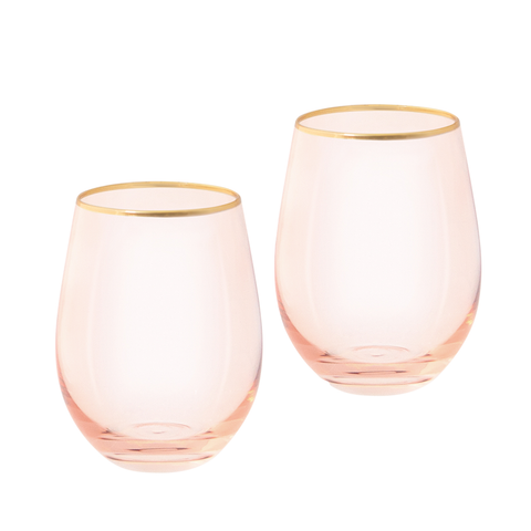 Rose Crystal Tumblers (set of 2)