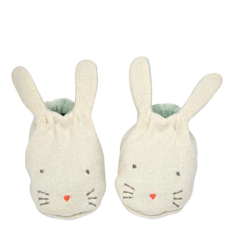 Baby Booties - Mint Bunny