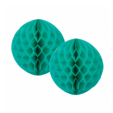 Turquoise Honeycomb Ball - 15cm-Palm & Pine Party Co.