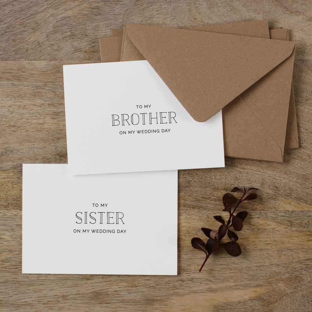 WEDDING CARD TO FAMILY - matilda