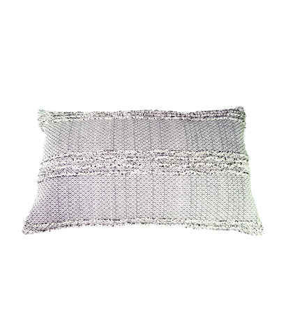 Nomad monochrome mini geometric patterned cushion