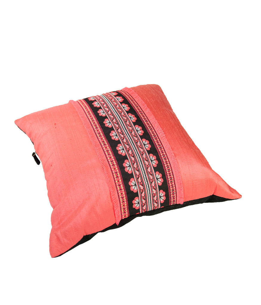Coral crush cushion