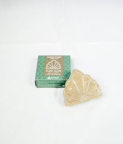 Pure olive soap with cedar and rosemary