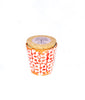 Rouge mosaic Earthenware small pot and candle