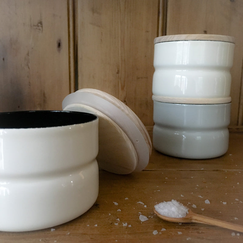 Enamel Kitchen Storage Container Canisters