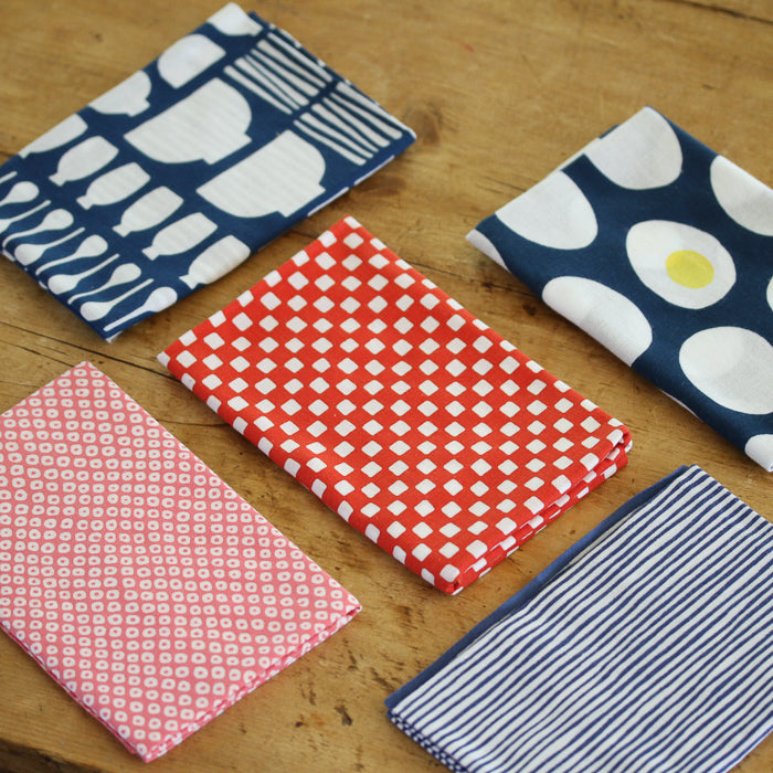 Japanese Dish Towel - Pink Dots