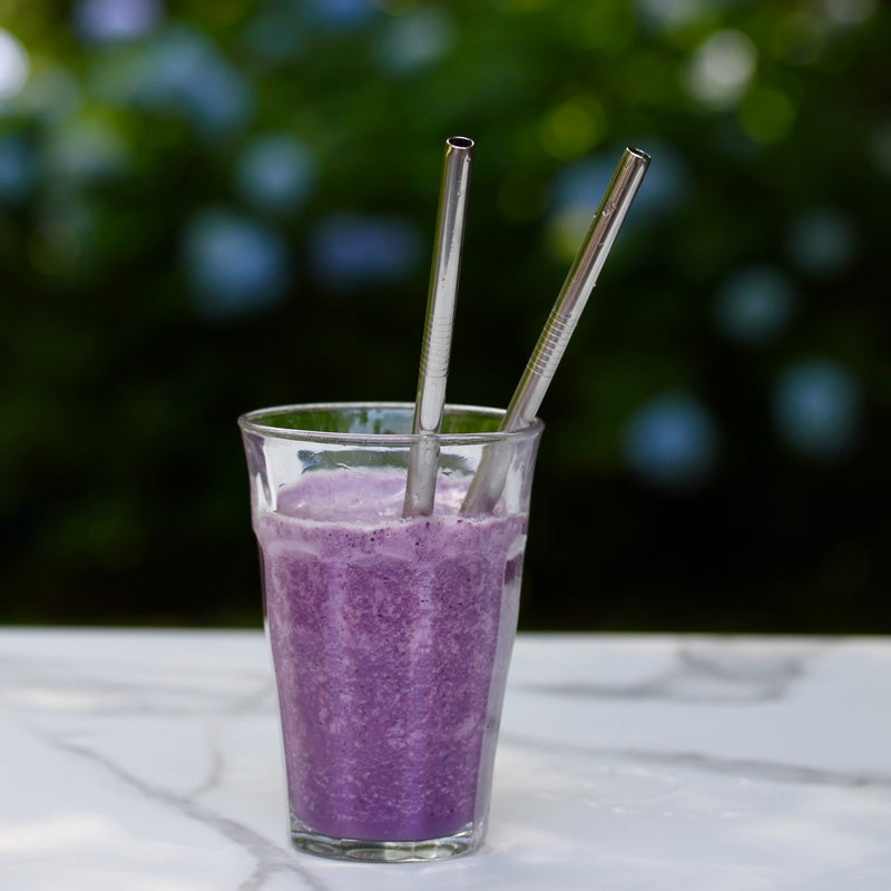 Six Stainless Steel Smoothie Straws