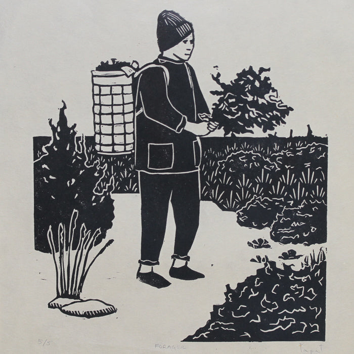 """FORAGER"" - Limited Edition Linocut Print"