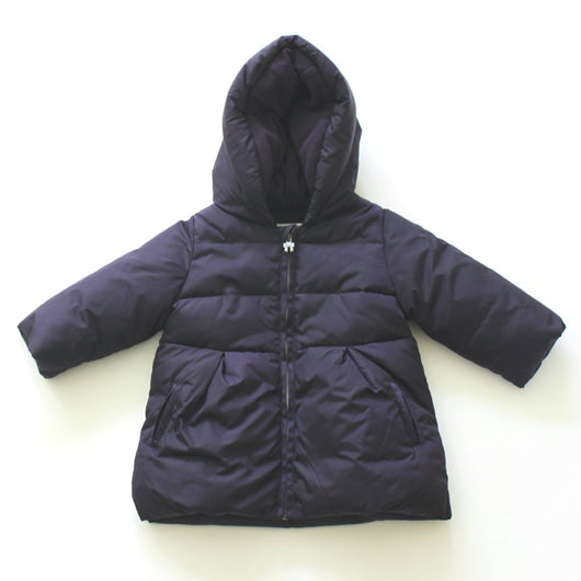 Jacadi Navy Hooded Puffa Coat