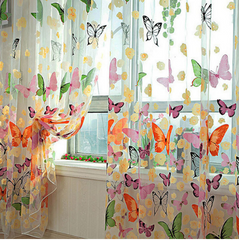 Butterflies Tulle Curtain for Home Decor
