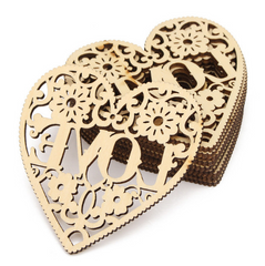 Decorative Heart Wood Craft Home Decor