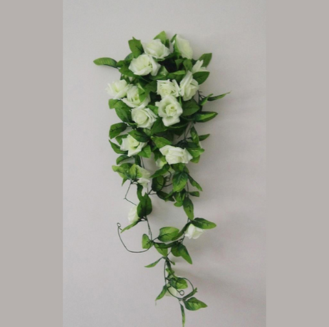 Artificial Rose Flower Hanging Decor