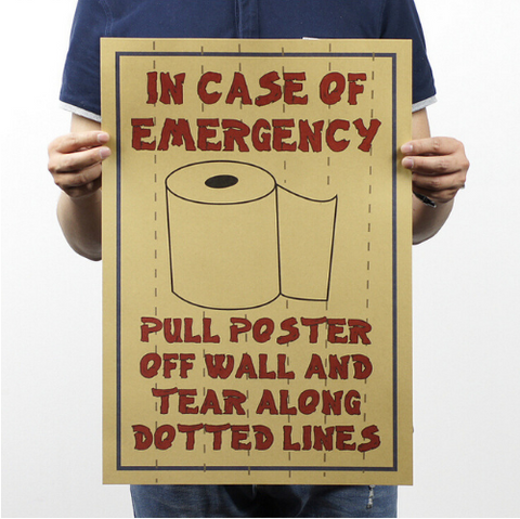 Toilet emergency Vintage Poster