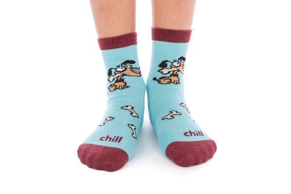1 PAIR - Blue Chill Bamboo Socks