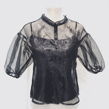 CLEMENCE EMBROIDERED ORGANZA TOP