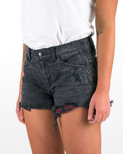 INDI Denim Shorts Black