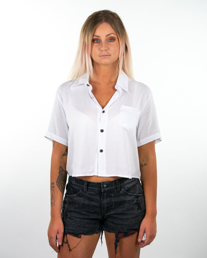 Venice Crop Shirt - White