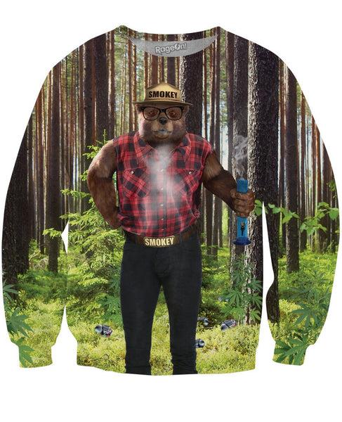 Smokey the Cool Bear Crewneck Sweatshirt