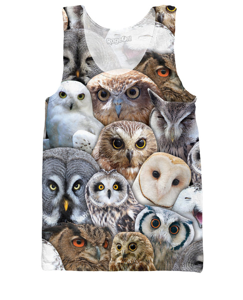 Owl Collage Tank Top