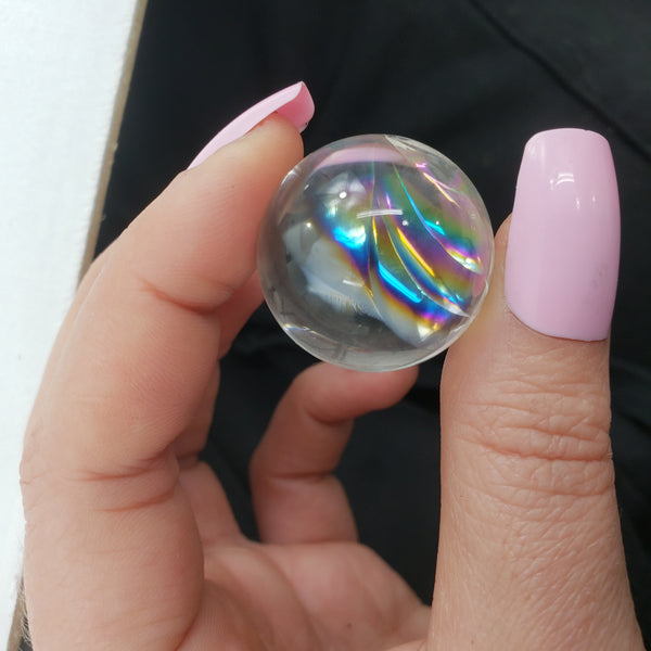 Rainbow Clear Quartz Sphere