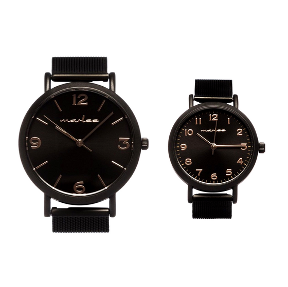 MATCHING BLACK COPPER MESH TIMEPIECES