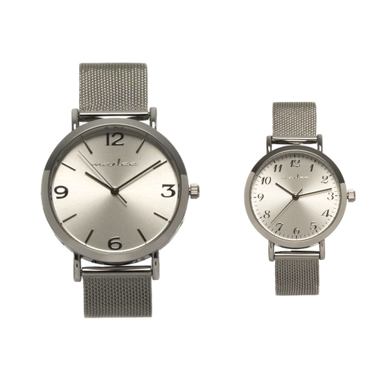 MATCHING SILVER MESH TIMEPIECES