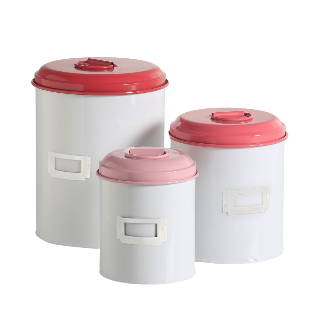 Storage Tins - Raspberry - Work Home Play