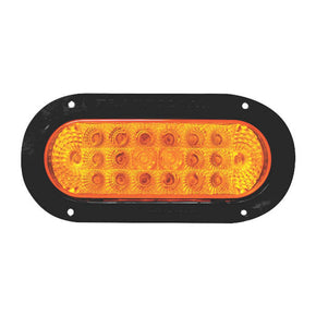 8041E - Oval Fixed 20 LED Sealed Lights, with Reflective (12/24 V)